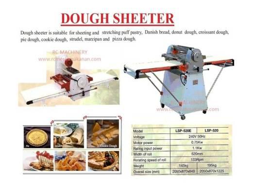 dough sheeter, meratakan tepung, mesin dough