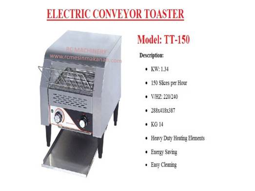 electric conveyor toaster, conveyor toaster, mesin membakar roti