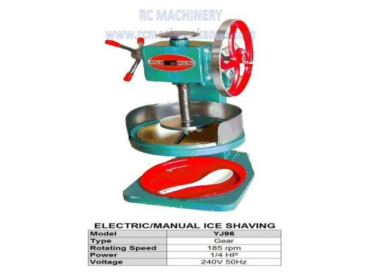 electric manual ice shaving, ABC machine, mesin ABC
