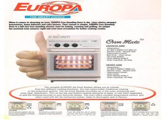 europa oven, oven europa, ketuhar, electric oven,  oven elektrik, mesin membuat kuih dan kek