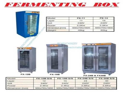 fermenting box, mesin membuat kuih, roti dan kek