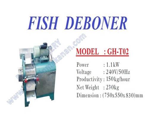 fish deboner, mesin pengisar ikan, mesin ikan, mesin membuang tulang ikan
