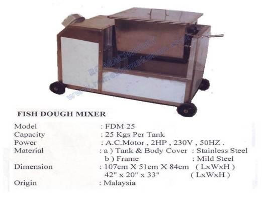 fish dough mixer, horizontal dough mixer, mesin pengadun, mixer