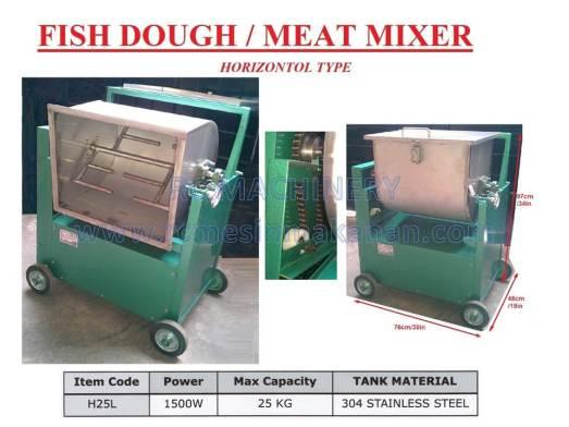 fish dough mixer, meat mixer, mesin pengadun, horizontal mixer