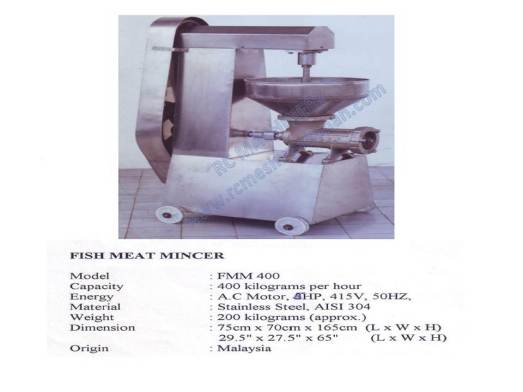 fish meat mincer, mesin pengisar ikan, meat mincer