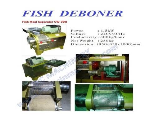 fish meat seperator, mesin pengisar, mesin membuang tulang ikan, mesin ikan
