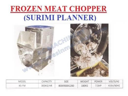 frozen meat chopper, surimi planner, mesin pemotong daging beku, mesin memotong daging
