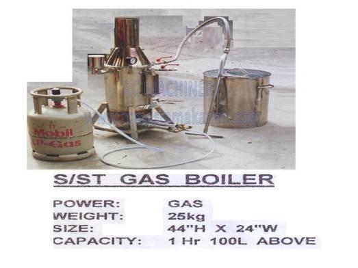 gas boiler, mesin memasak soya, soya bean steamer