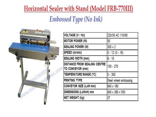horizontal sealer with stand, sealer machine, mesin pembungkusan, sealer