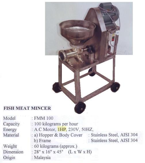 I4 Fish Meat Mincer  FMM100 Mesin Penghancur daging