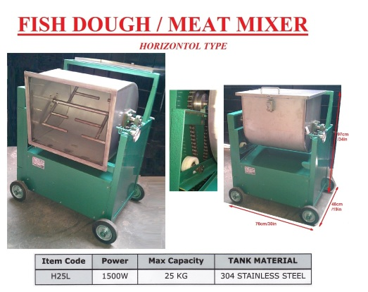 I5 Fish Dough Mixer H25L Mesin pengaul daging ikan