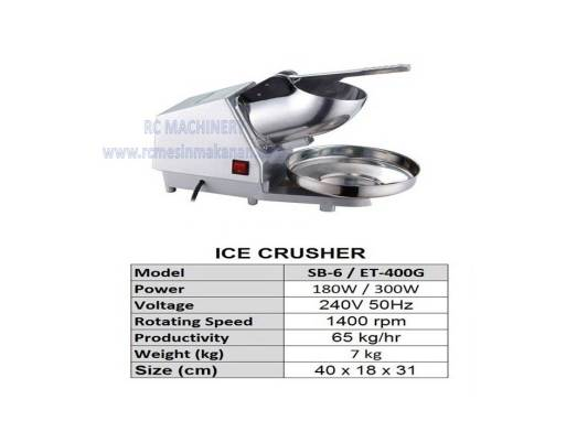 ice crusher, ABC machine, mesin ABC, ice cube
