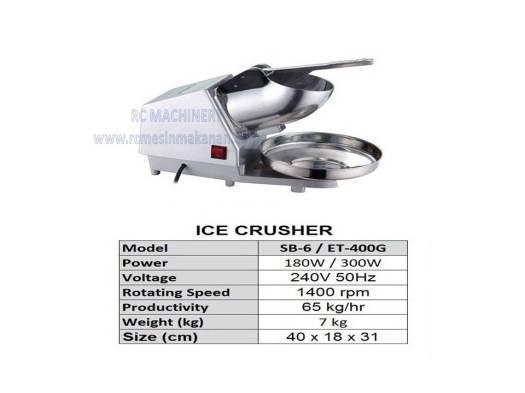 ice crusher, ABC machine, mesin ABC, ice cube