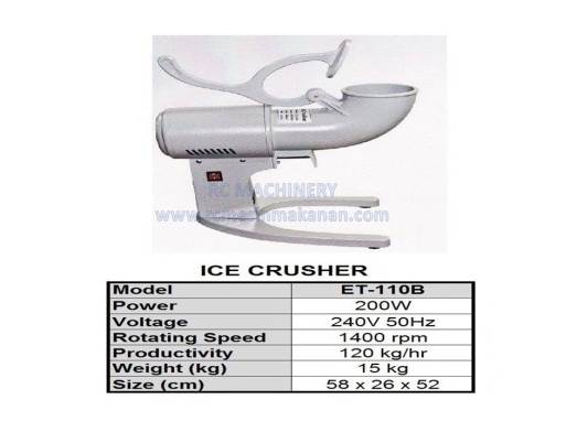 ice crusher, ABC machine, mesin ABC