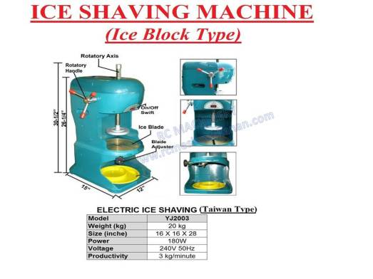 ice shaving machine, ABC machine, mesin ABC