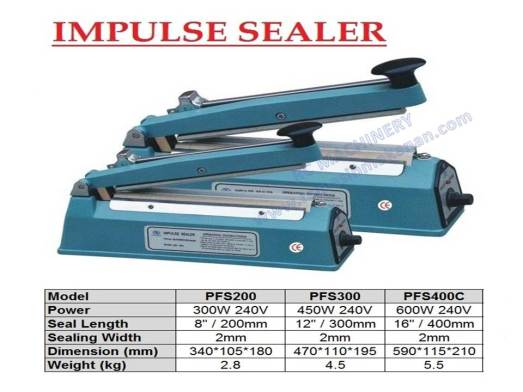 impulse sealer, hand sealer, sealer, seal