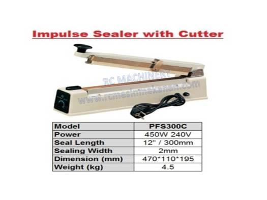 impulse sealer with cutter , hand sealer, sealer, seal, impulse sealer