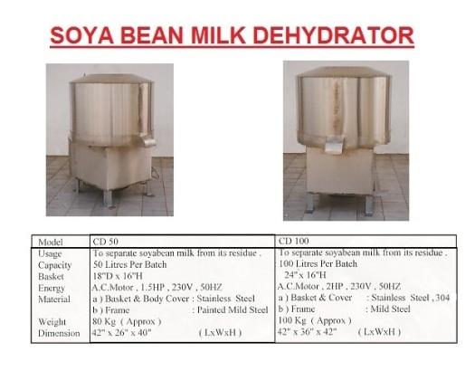 J3 Soyabean Milk Dehydrator-CD