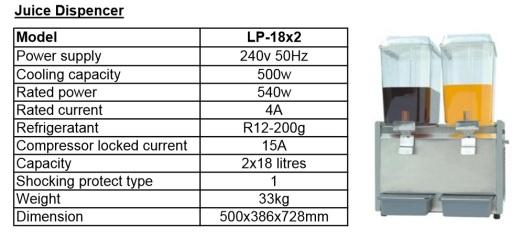 J7 juice dispenser 18L