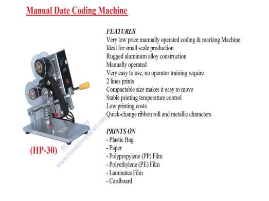 manual date coding machine, manual date, coding machine, mesin expiry date