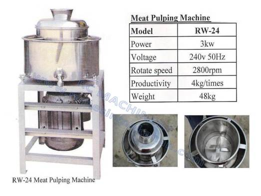 Meat pulping machine, mesin pengisa ikan, meat pulping
