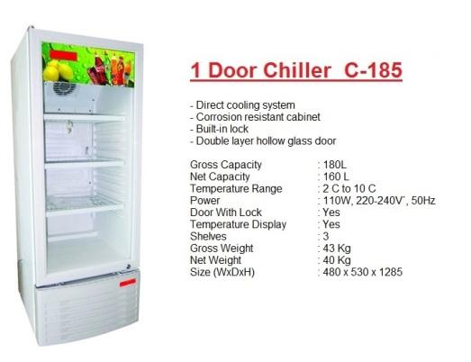 Pa1 - 1 door chiller 180L