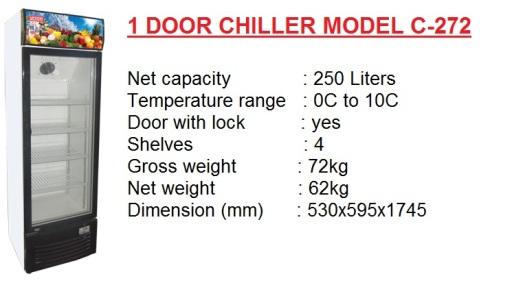 Pa1 - 1 door chiller 250L