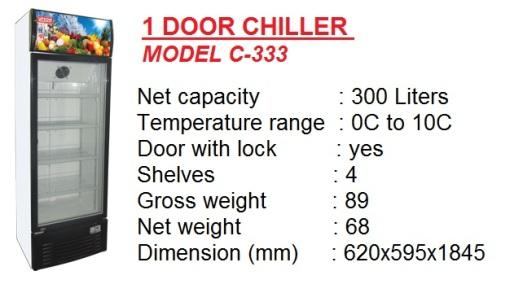 Pa2 - 1 door chiller 300L