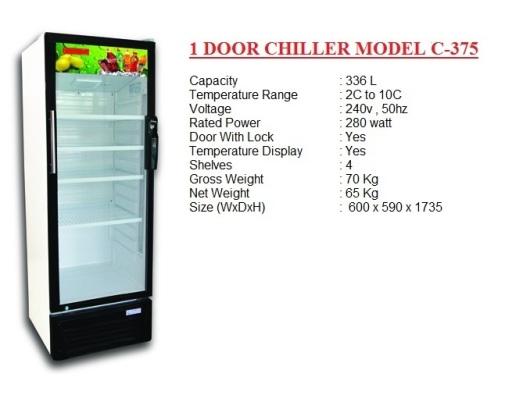 Pa2 - 1 door chiller 336L premium