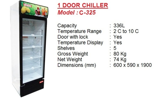 Pa2 - 1 door chiller 336L