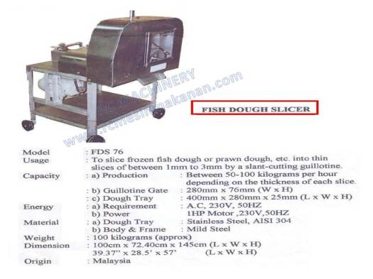 pemotong keropok lekor, dough slicer , adjustable