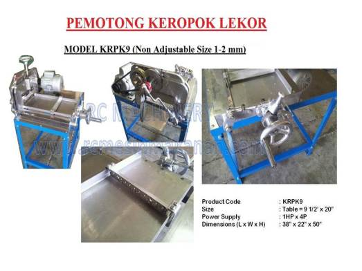 pemotong keropok lekor, dough slicer , non adjustable