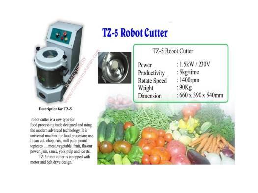 robot cutter, TZ-5, mesin memotong sayur, lobak kentang dan bawang
