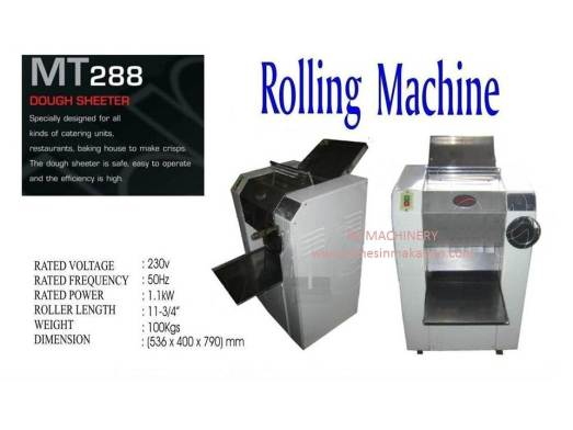rolling machine, MT288, dough machine, mesin dough, mesin tepung, meleper tepung