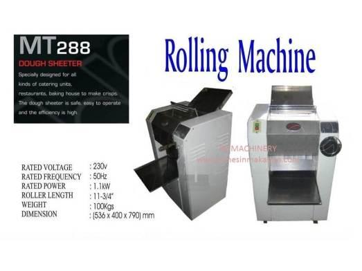 rolling machine, MT288, dough machine, mesin dough, mesin tepung, meleper tepung