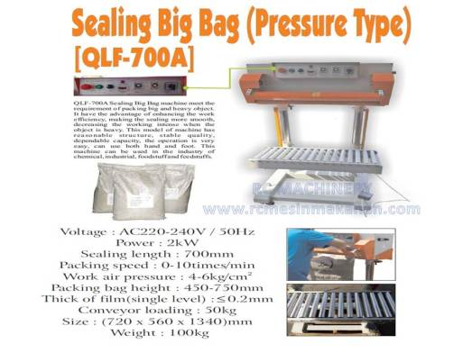 sealing big bag, sealer bag, bag sealer