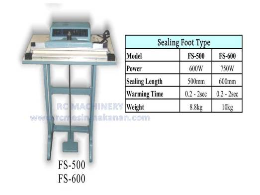 sealing foot type, foot sealer, sealer kaki