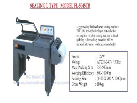 sealing L type, sealer, shrink tunnel
