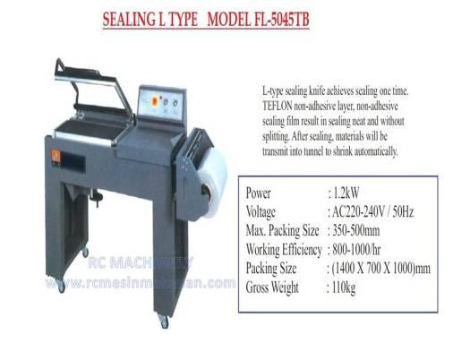sealing L type, sealer, shrink tunnel