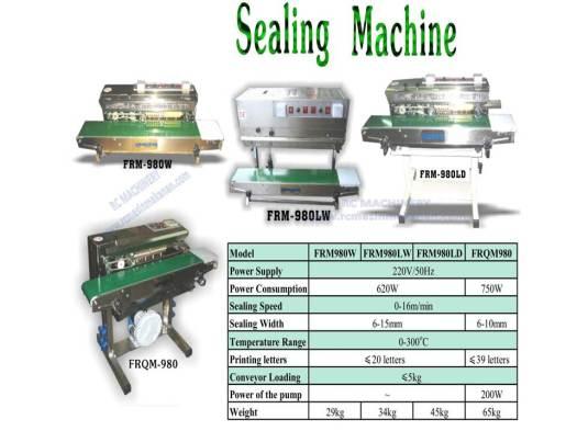 sealing machine, sealer, mesin pembungkusan, packing machine