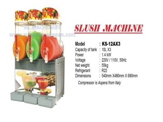 slush freezer, slush machine, mesin slush, KS-12AX3