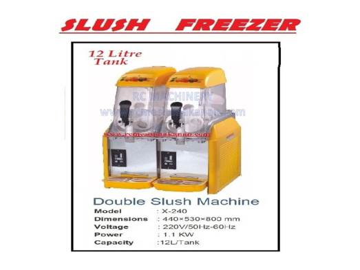 slush freezer, slush machine, mesin slush