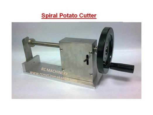 spiral potato cutter, mesin kentang putar, kentang putar, cutter