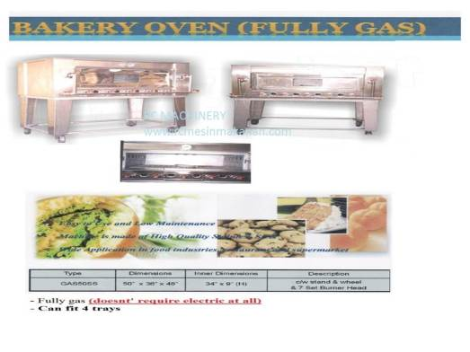 stainless steel gas oven, oven gas stainless steel, ketuhar, mesin membuat kuih dan kek