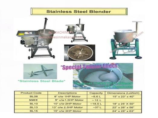 stainless steel heavy duty blender, heavy duty blender, pengisar, blender, mengisar bawang