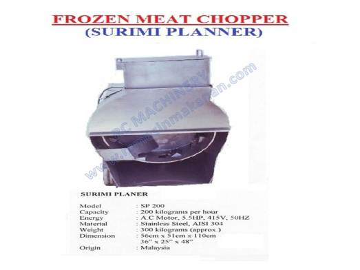 surimi planner, frozen meat chopper, mesin memotong daging