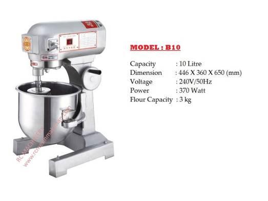 universal mixer B10, pengadun tepung, mesin membuat kuih dan roti,baker mixer, food mixer,mixer b-10