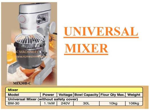 universal mixer B30, pengadun tepung, mesin membuat kuih dan roti