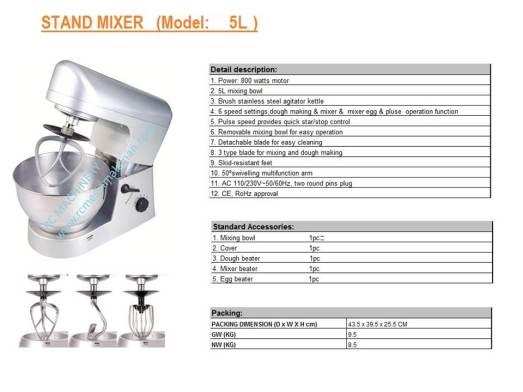 universal mixer B5,pengadun tepung, mesin membuat kuih dan roti