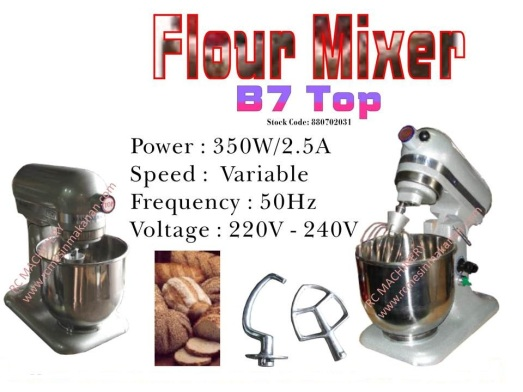 universal mixer B7, pengadun tepung, mesin membuat kuih dan roti